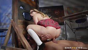 Schoolgirl deals cock in rough modes during hot fetish