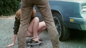 Precious retro babes with tight boobs and hairy cunt in hot vintage sex video