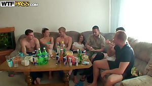 Hardcore university orgy with the horny students gone wild thrust Dana, Janet and others