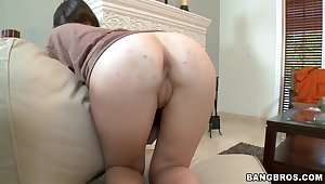 The seducing amateur Lucky shows ass doggy