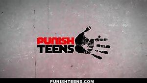 PunishTeens - Little Sister Brutally Fucked And Eaten up