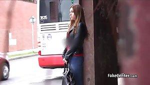 Russian babe fucked in public