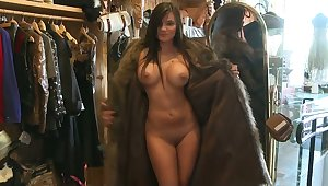 Stripped titties give a fur coat