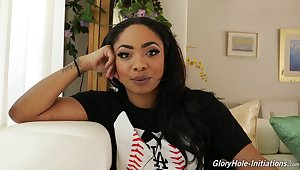 Ebony milf Cali Caliente gives an interview