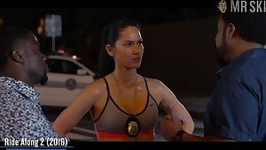Superb cleavage of Olivia Munn compilation photograph