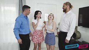 DaughterSwap - Riley Jean And Aria Banks Take over Fathers