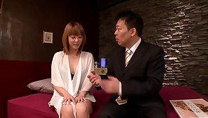 Busty Japanese housewife Azumi enjoys having sex with four guys