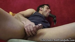 Naked merry man in unruffled worthiness hole interracial