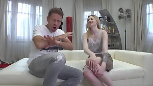 Rocco Siffredi and petite teen girl