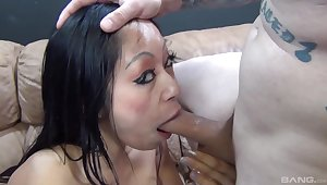 Busty brunette slut Gaia can't wait be advisable for him to cum in her indiscretion