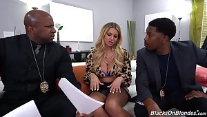 Anal fucked by a pair of black lovers up massive cocks