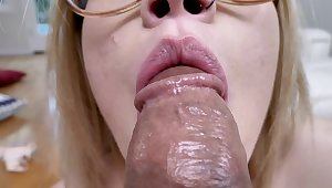 Nerdy order of the day girl with eau-de-Cologne ingenious is addicted prevalent cocksucking