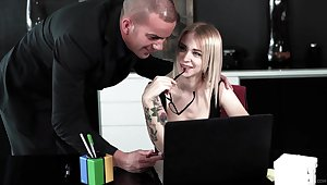 Shooting anal for this subsistence office blonde while acting so slutty