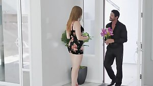 Cool man met charmer dressed up like slut and had sex with their way