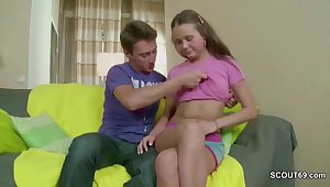 He Fuck His Excessively Closely-knit Stepsister in Bore With His Big Dick