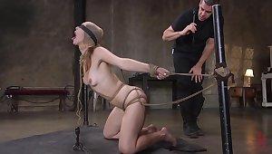 Anal domination in scenes of BDSM for Ella Nova