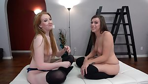 Lucky man fucks both his GF Shelby Paris coupled with sexy Sonia Harcourt